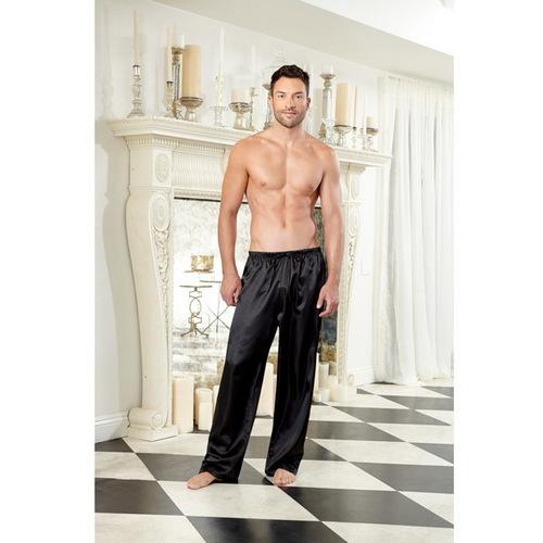 Charmeuse Drawstring Pant Black XXL