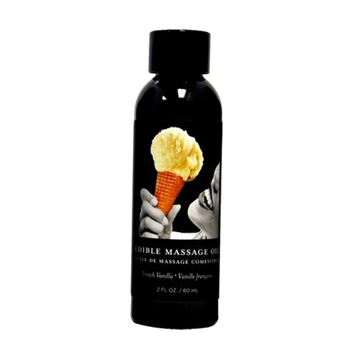 French Vanilla Edible Massage Oil - 2 Oz.