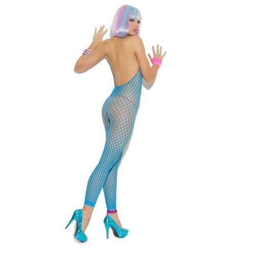 Footless Body Stocking - One Size - Neon Blue