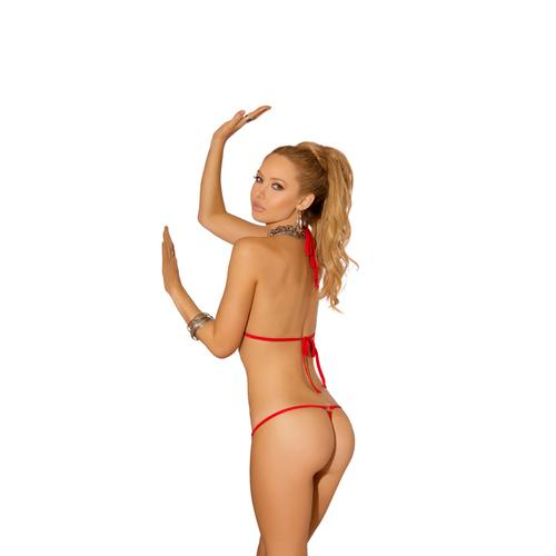 2 Piece Swimwear Set - One Size - Red