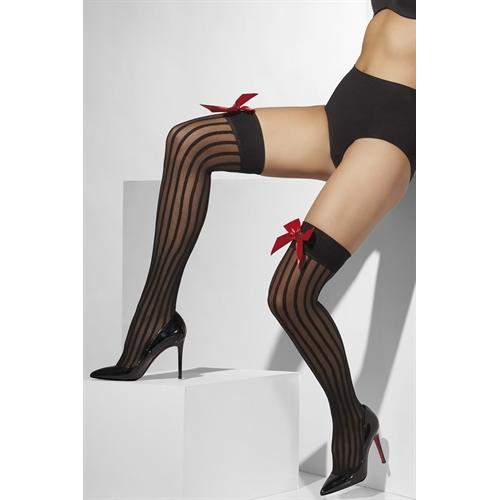 Stockings With Bow and Heart - Black Fv-32108