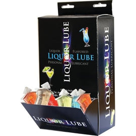 Liquor Lube - 7 Assorted Flavors - 50 Pieces Display