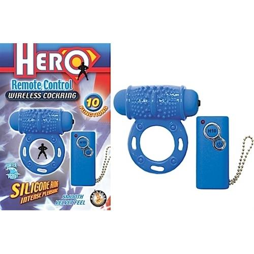 Hero Remote Control Wireless Cockring - Blue