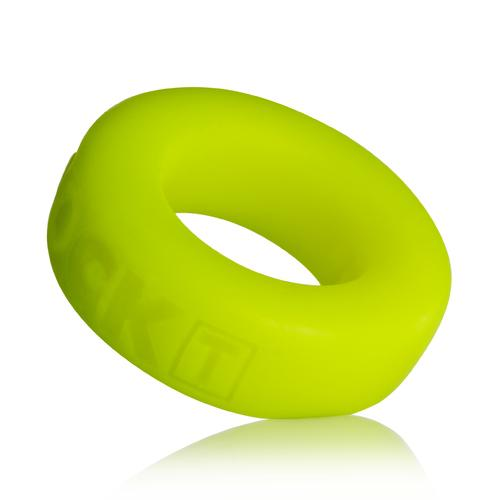 Cock-T Small Comfort Cockring by Atomic Jock - Acid Yellow