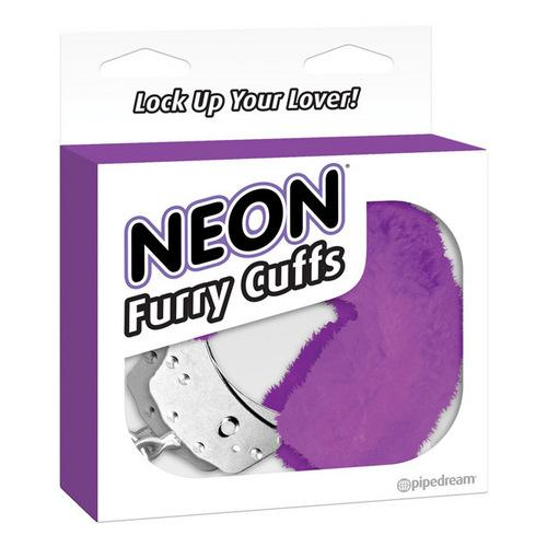 Neon Luv Touch Furry Cuffs - Purple