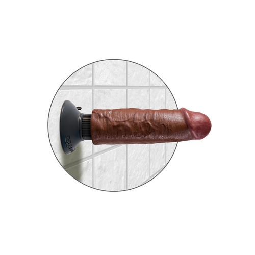 "King Cock 6"" Vibrating Cock - Brown"