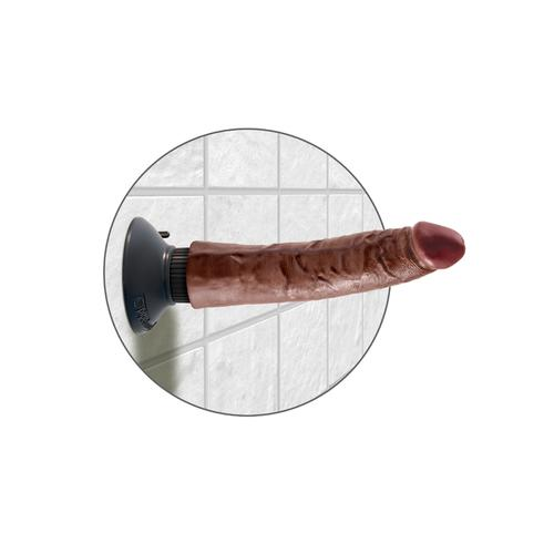 King Cock 7-Inch Vibrating Cock - Brown