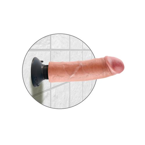 King Cock 8-Inch Vibrating Cock - Flesh