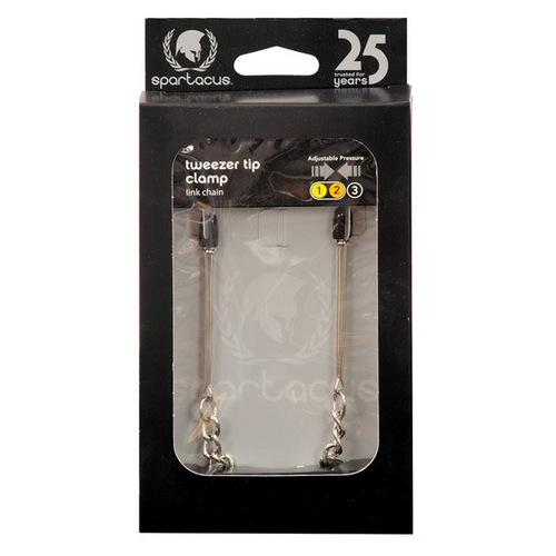 Spartacus Adjustable Tweezer Clamps w/Link Chain