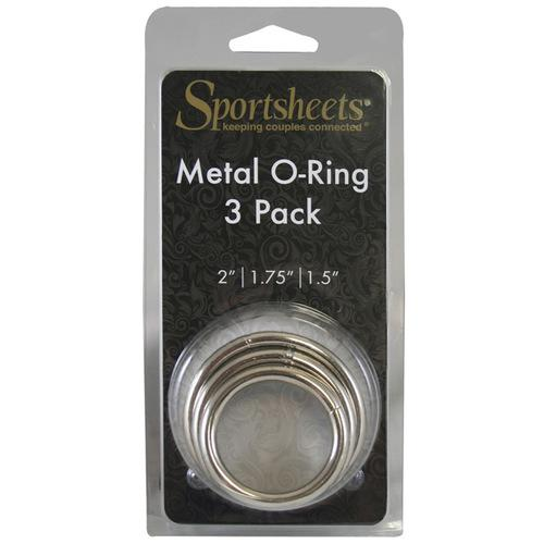 Sportsheets Metal O Ring - Pack of 3