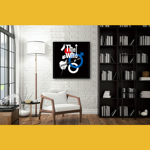 The Who Logo Framed Wall Art