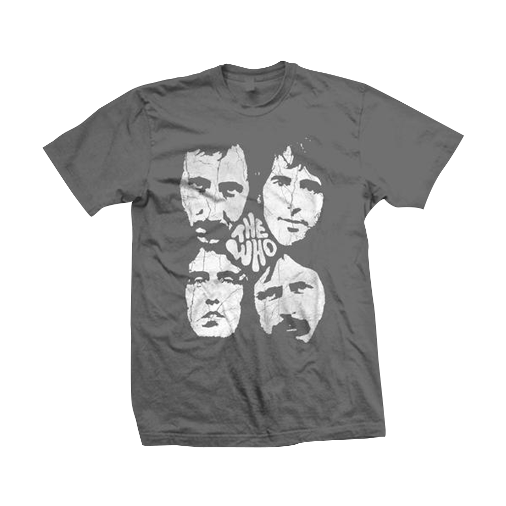 The Who Distressed Four Faces T-Shirt – The Who Official Store 5ca36d847