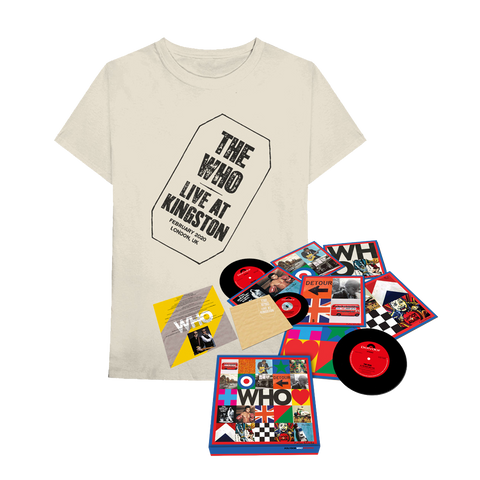 "WHO 7"" Box Set w/ Live at Kingston + T-Shirt Bundle"