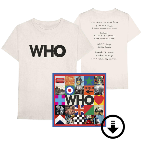 WHO Album Logo T-Shirt + Digital Album