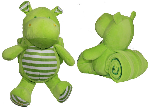 "Heartly the Hippo 12"" Plush Stuffed Animal with Super Soft Receiving Blanket 
