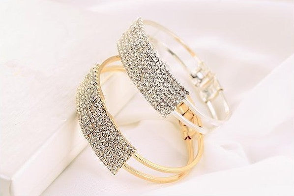 Elegant Crystal Dinner Bangle - In Style Bangles