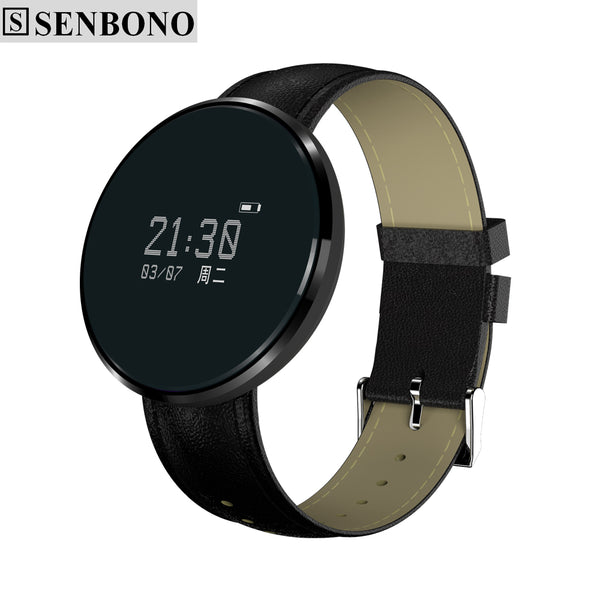 SENBONO Smart Wristband Heart Rate Sleep Monitor SMS Reading Weather For Android IOS - In Style Bangles