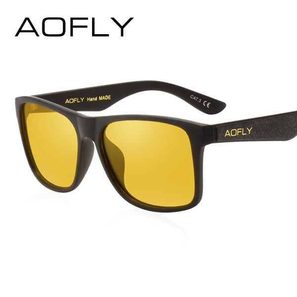 AOFLY Men's Night Vision Anti Glare Driving Glasses - In Style Bangles
