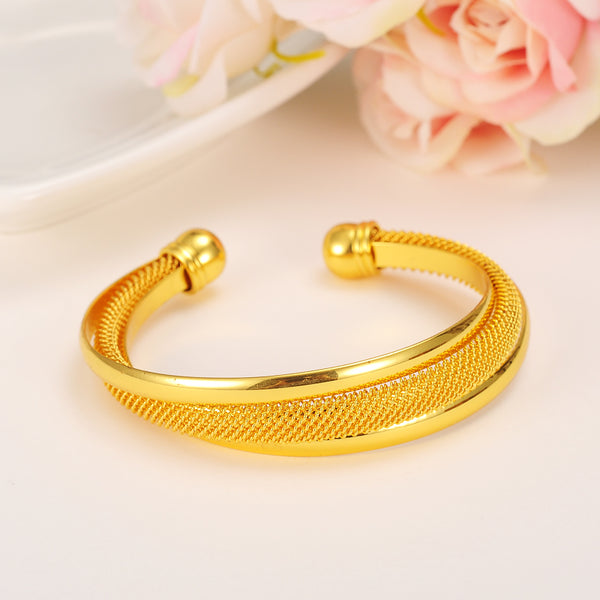 Bangrui 24K Gold Plated Bangle - In Style Bangles