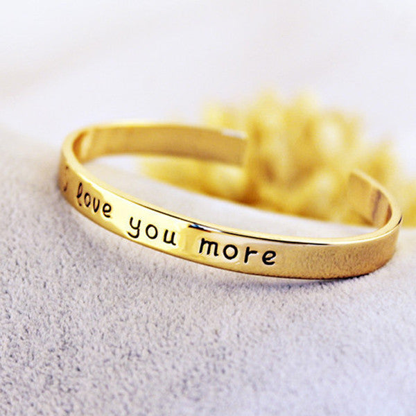18k Gold Plated - I Love You More Bangle - In Style Bangles