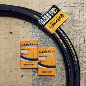 2 Pack Combo Continental Gatorskin 700 x 25 Wire Bead Tires + 2 Tubes!