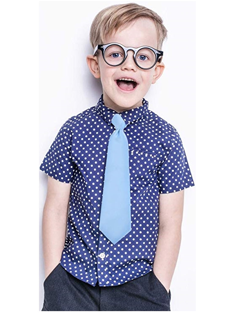 Boy's Solid Color Pre-tied Zipper Neck Tie