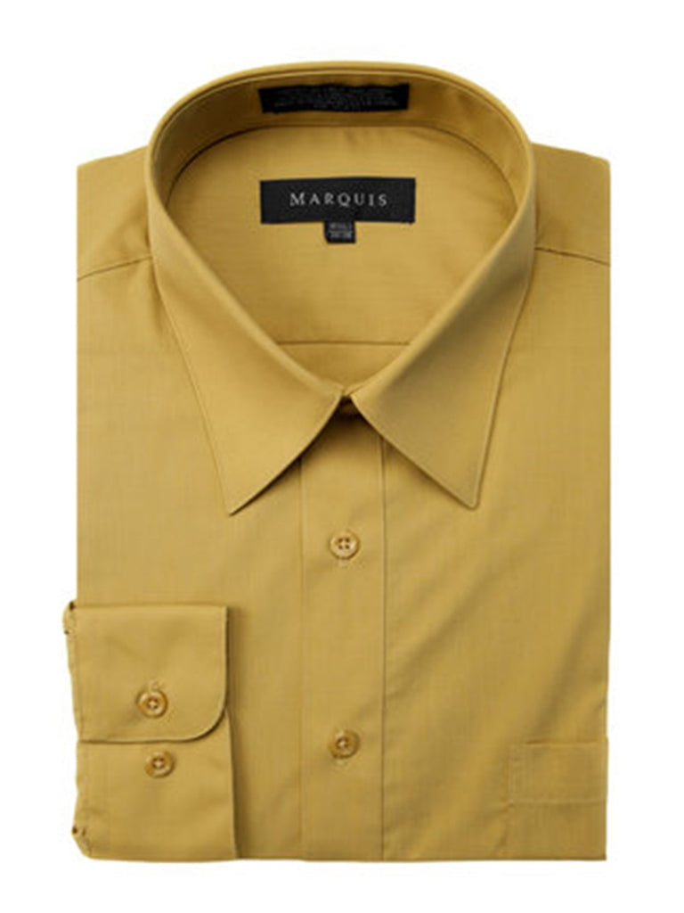Marquis Men's Long Sleeve Regular Fit Big & Tall Size Dress Shirt