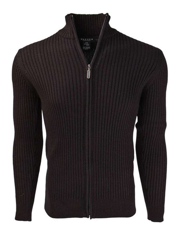 Men's Black Mock Neck Sweater