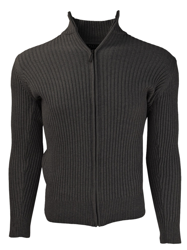 Men's Charcoal Mock Neck SweaterCharcoal