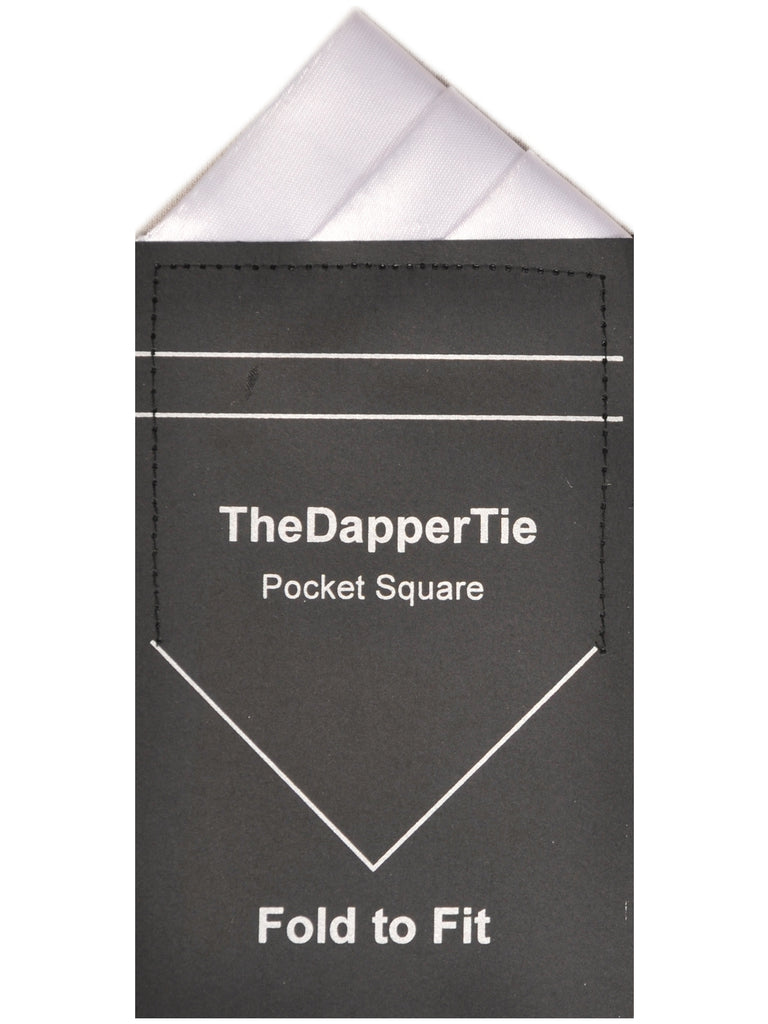 TheDapperTie - Men's Trifecta Triangle Pre Folded Pocket Square