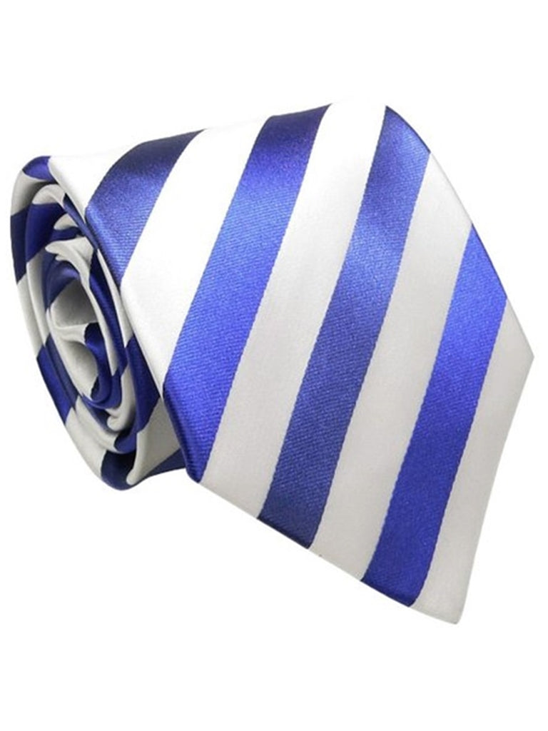 Royal Blue & White Striped
