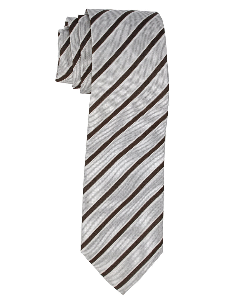 White And Dark Brown Stripes