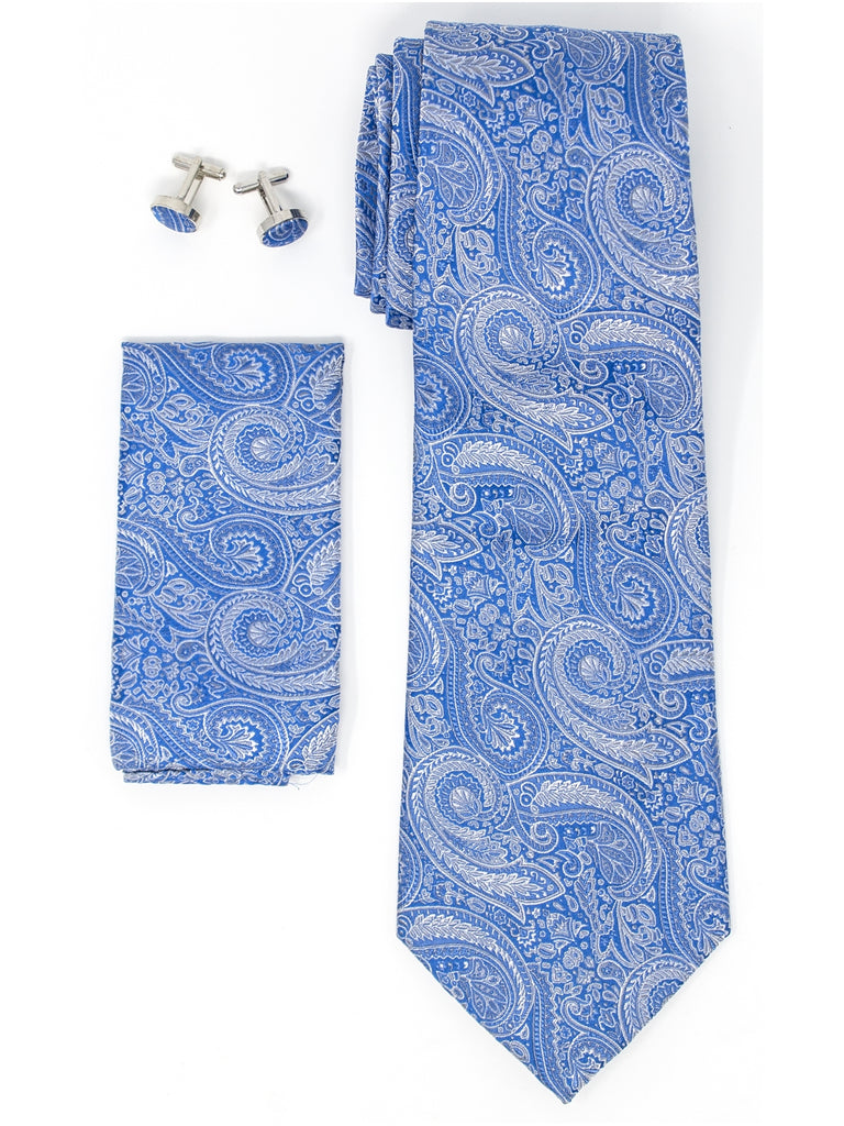 Blue And White Paisley