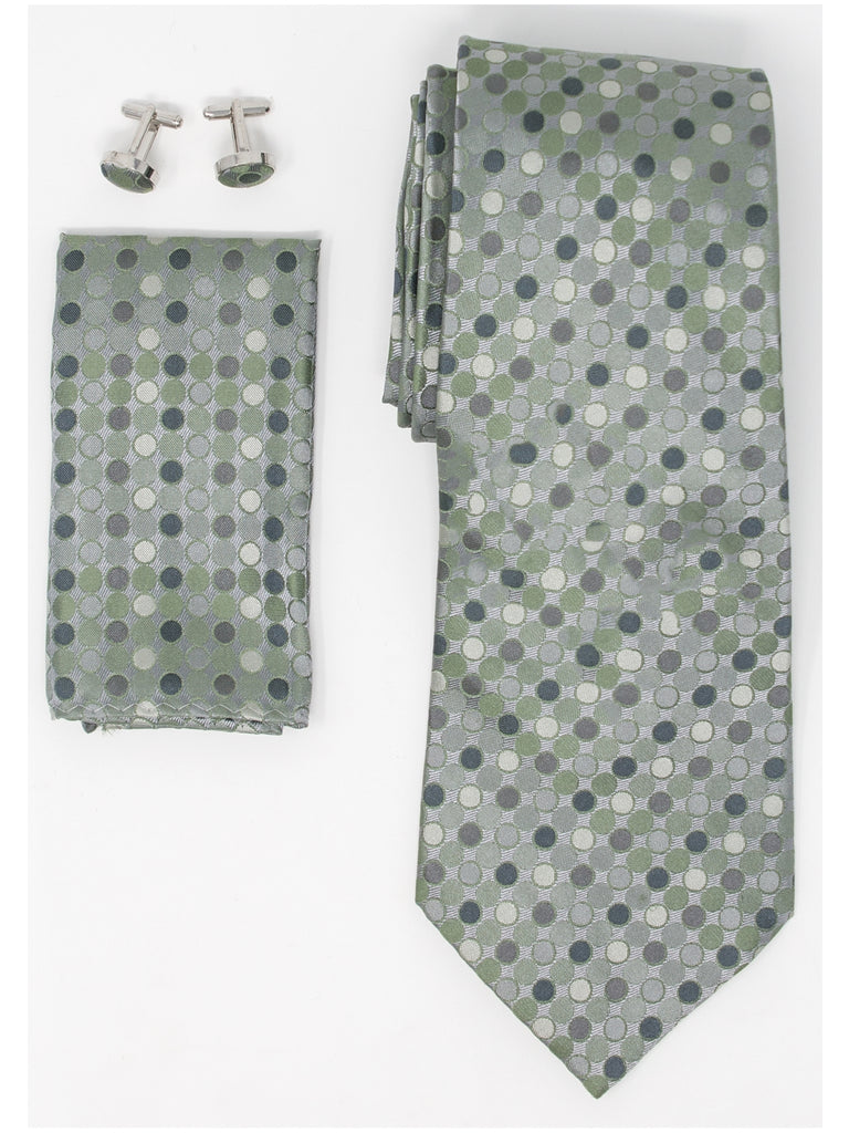 Green And Grey Polka Dots