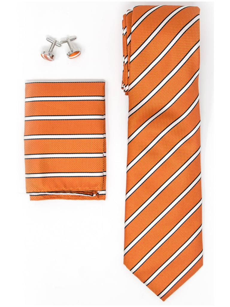 Orange, White And Black Stripes