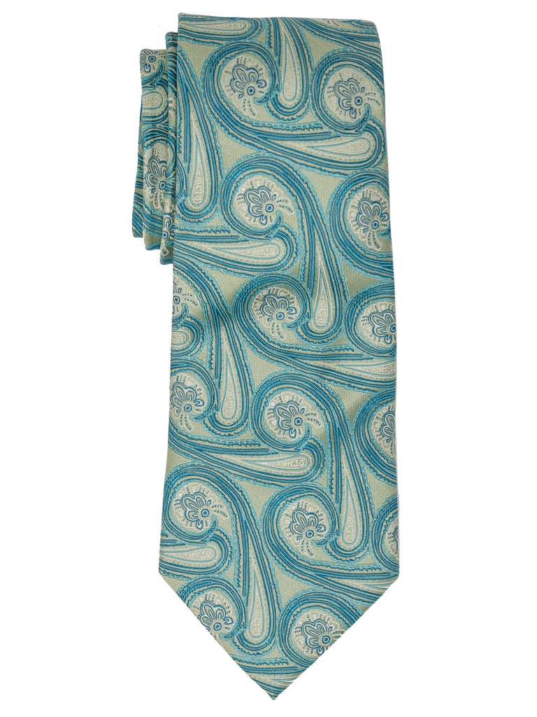 Blue And Ivory Paisley