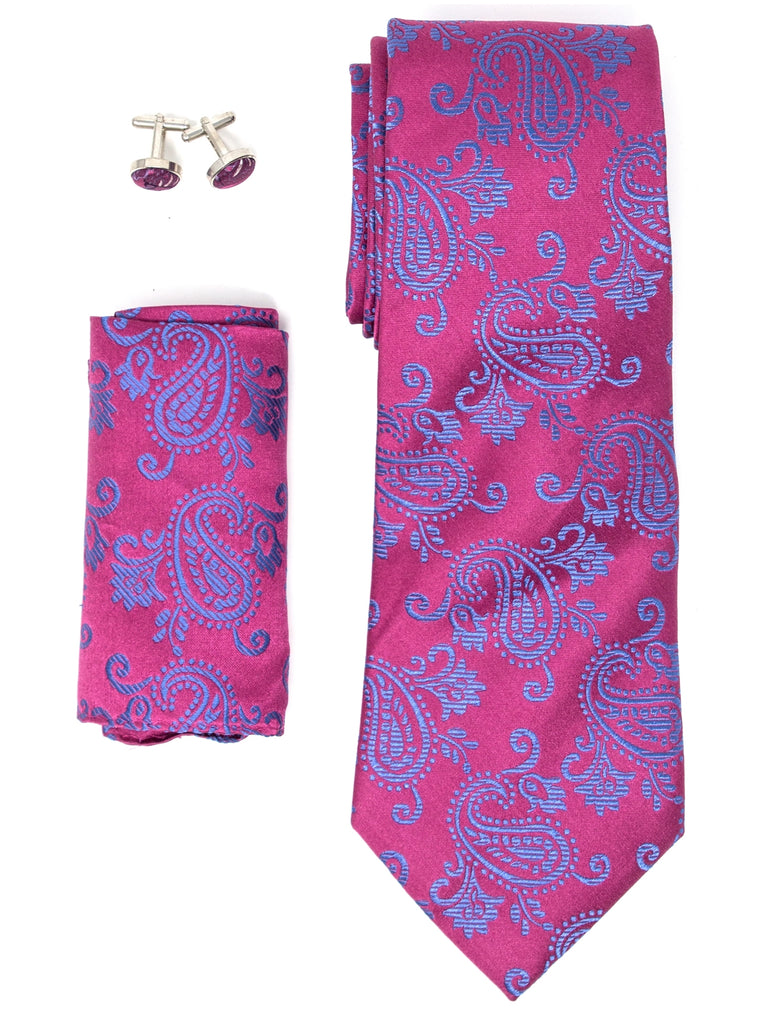Fuchsia And Royal Blue Paisley