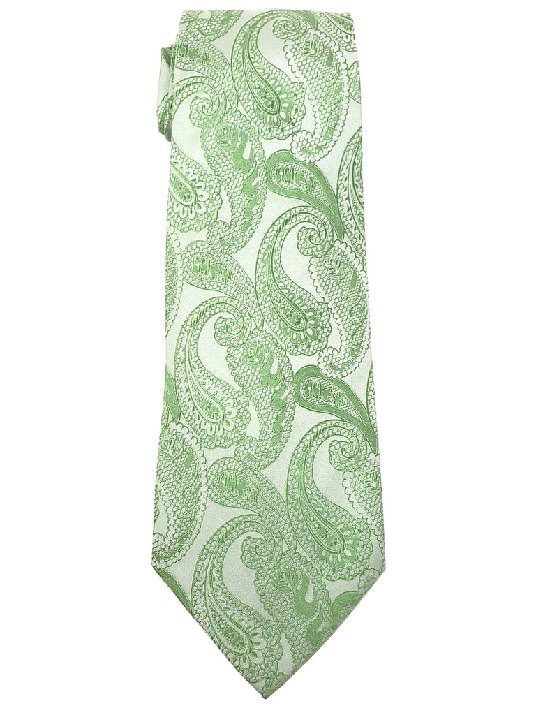 Green And White Paisley