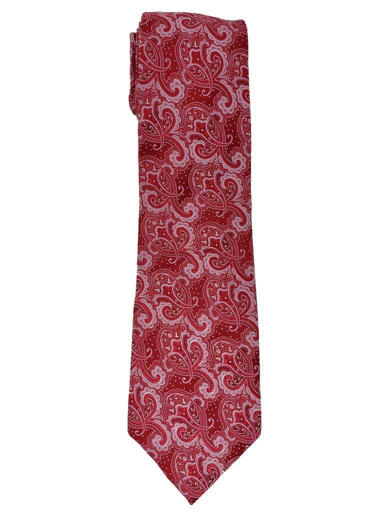 Red And White Paisley
