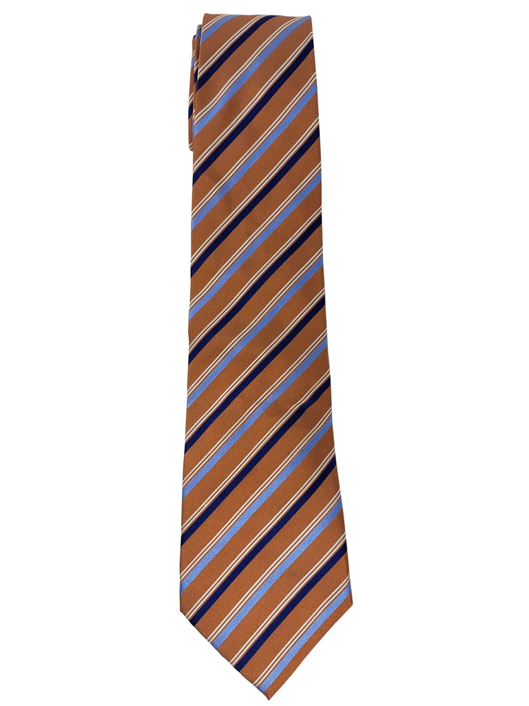 Light brown And Navy Blue Stripes