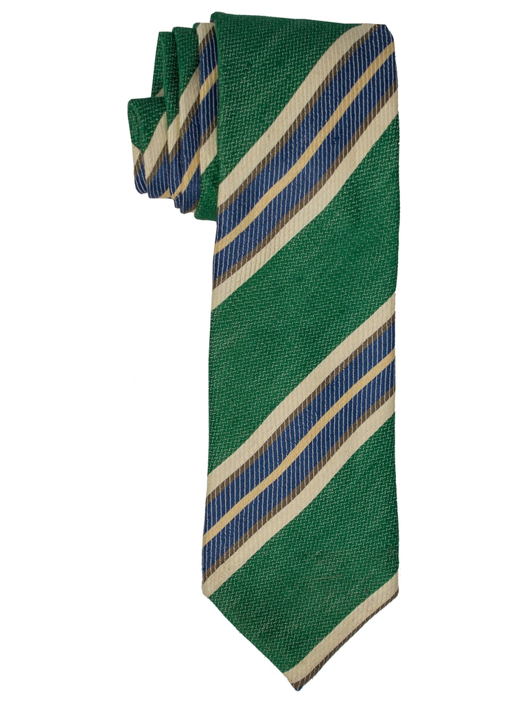 Green, Brown And Navy Stripes