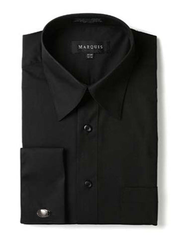 Marquis Men's Regular Fit French Cuff Dress Shirt - Cufflinks