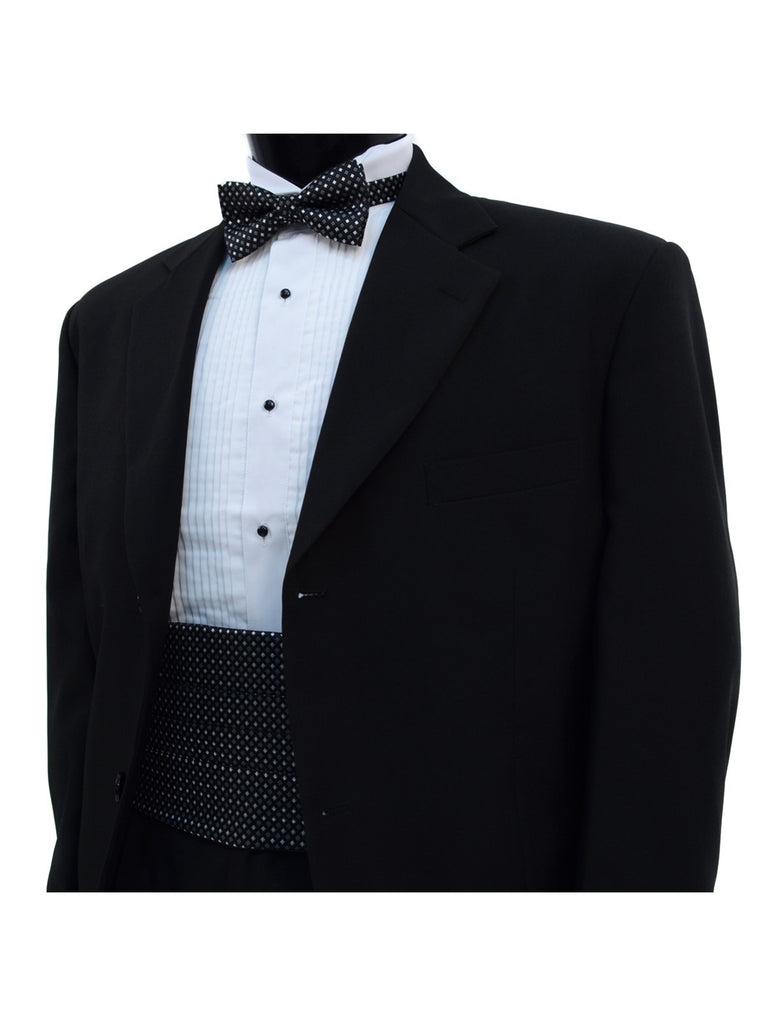 Doted  Matching Adjustable Cummerbund and Bow tie Set