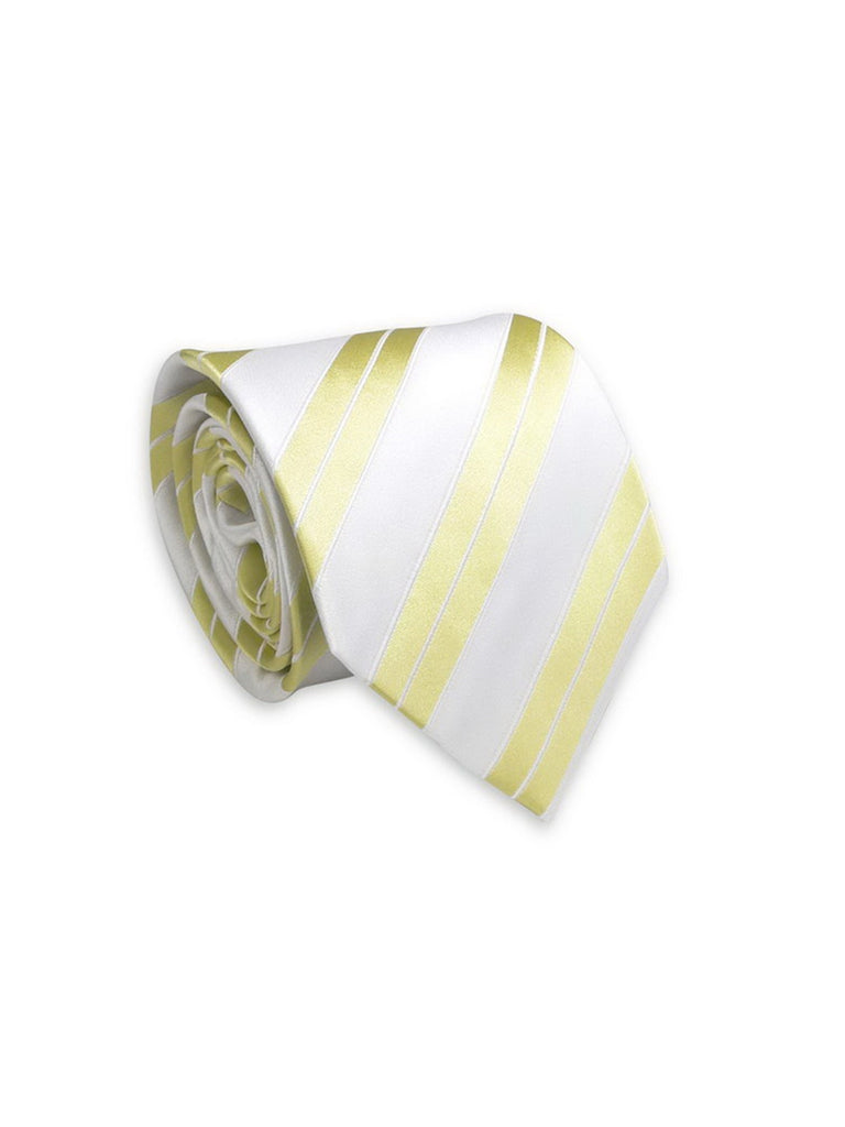 Striped Yellow And White