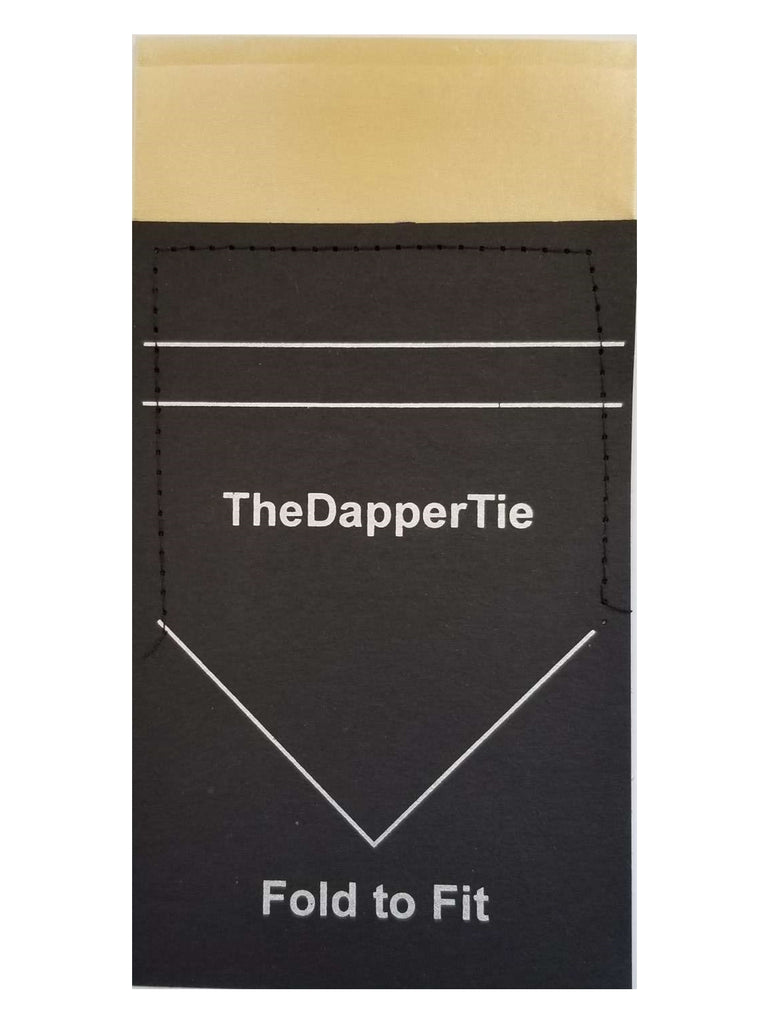 Men's Solid Double Toned Flat Pre Folded Pocket Square on Card