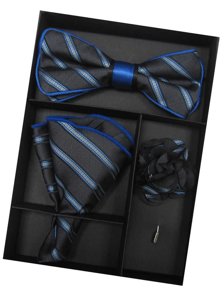 Black & Royal Blue Striped