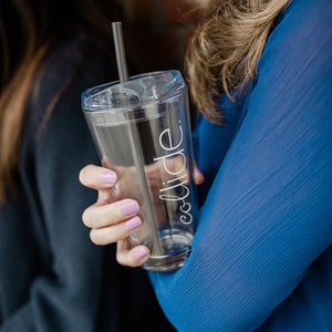 Glass Cups with Collide Logo