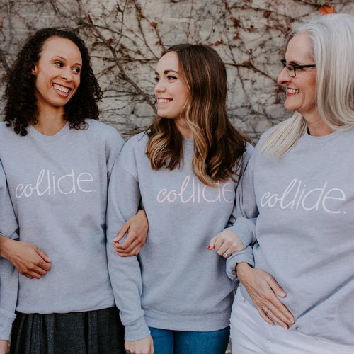 New! Cute Collide Crew Neck Sweatshirts