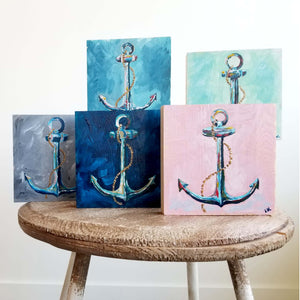 Collide Anchor Wooden Paintings