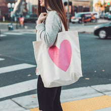 Collide Pink Heart Tote Bag